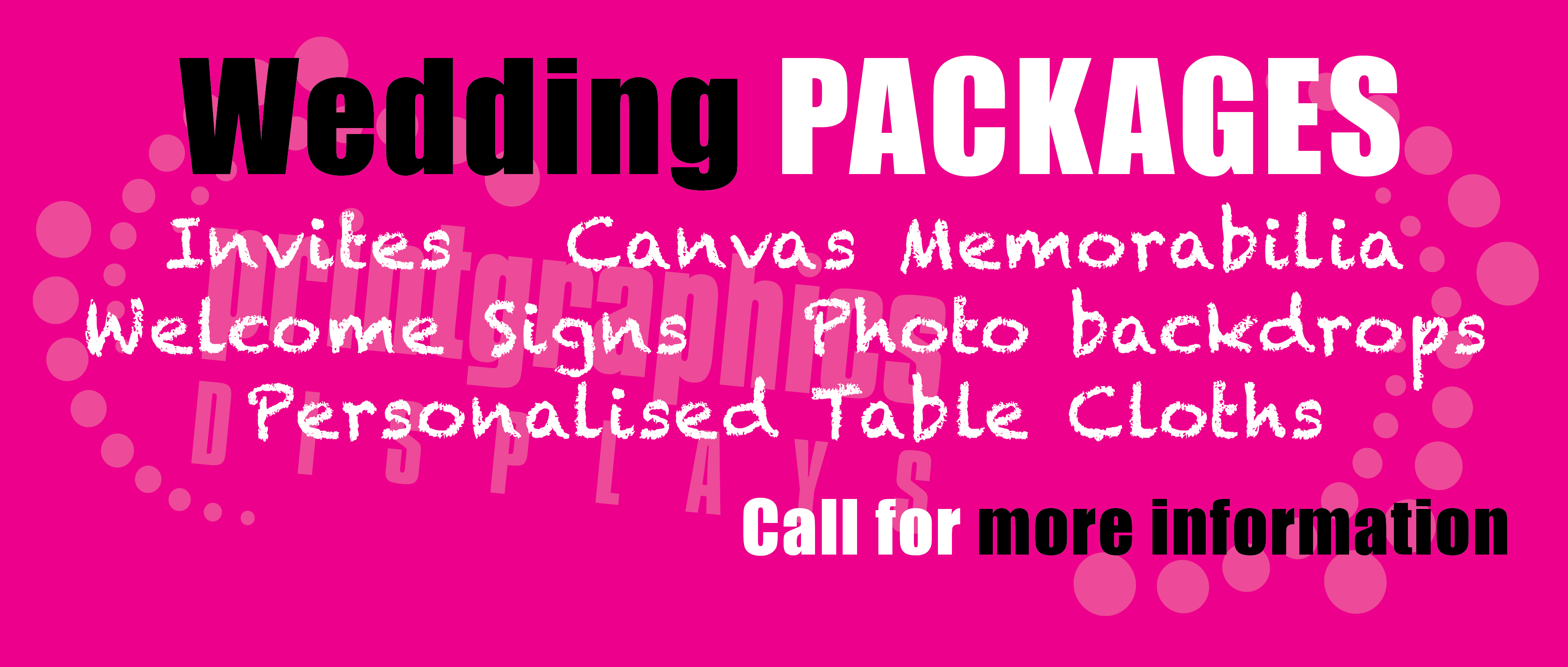 wedding invites canvas and signs packages